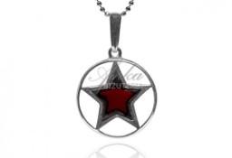 Srebrna biżuteria z bursztynem zawieszka srebrna gwiazdka