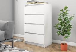 vidaXL Komoda, biała, 60 x 35 x 98,5 cm, płyta wiórowa800531