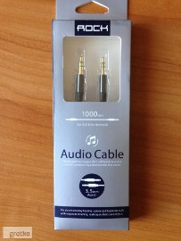 Kabel ROCK Audio mini-JACK 3,5mm Wtyk AUX TPE 1m