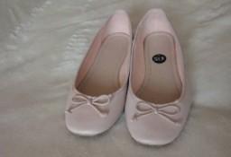 (39) Różowe baleriny z Londynu, balerinki / jak NOWE