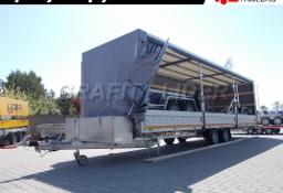 LT-009 przyczepa specjalistyczna, ciężarowa, firana obustronna, burty aluminiowe, 810x200x200cm, DMC 3000kg