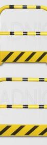 Fachowe zabezpieczenie regałów urządzeń maszyn, odbojnica prosta-3