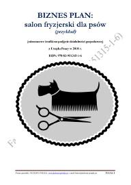 BIZNESPLAN salon fryzjerski dla psów 2018 (przykład)