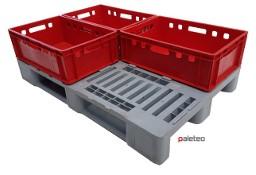 Paleta plastikowa H1 1200x800x160 mm UŻYWANA