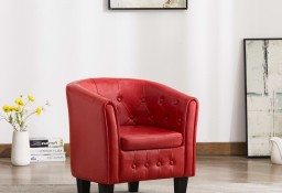 vidaXL Fotel, czerwony, sztuczna skóra248044