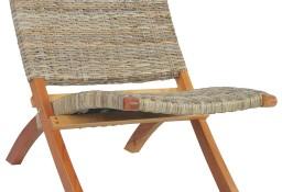 vidaXL Krzesło, naturalny rattan kubu i lite drewno mahoniowe285803