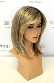 Peruka długa z włosów syntetycznych w odcieniu blondu z odrostem Opole