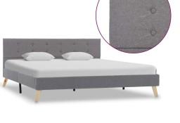 vidaXL Rama łóżka, jasnoszara, tkanina, 160 x 200 cm 284820