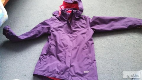 kurtka dziewczęca 122 128 cm jesienno zimowa