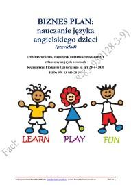 BIZNESPLAN nauczanie języka angielskiego dzieci (przykład)