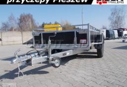LT-008 przyczepa specjalistyczna, uniwersalna, do budowlanki, osie wzmacniane 2x1350kg, 304x144x35cm DMC 750kg