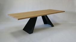 stół Victorio - dębowy blat, lite drewno