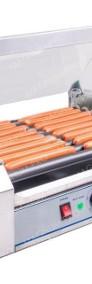 Duży zestaw do hot-dogów grill+ podgrzewacz + akcesoria teflon-3