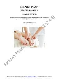 BIZNESPLAN na założenie studia masażu 2014