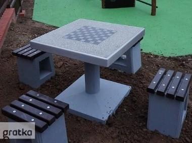 Stół betonowy gry szachy warcaby na plac zabaw-1