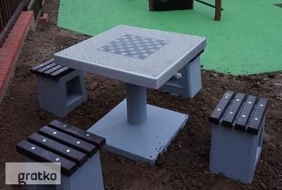 Stół betonowy gry szachy warcaby na plac zabaw