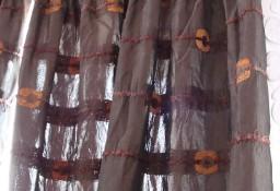 zasłony ciemnobrązowe 250 x 60 cm dostępne 2 szt.