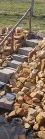 Kamień na oczko wodne staw skarpy stawu -4