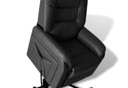 vidaXL Rozkładany fotel telewizyjny, czarny, sztuczna skóra240872