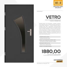 Drzwi wejściowe stalowe SETTO model VETRO PLUS
