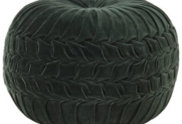 vidaXL Puf, aksamit bawełniany, marszczony, 40 x 30 cm, zielony 284033