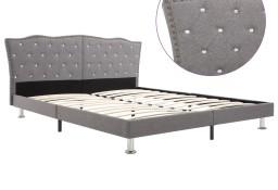 vidaXL Rama łóżka, jasnoszara, tapicerowana tkaniną, 160 x 200 cm 280540