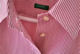Koszula w różowe prążki  M  Benetton