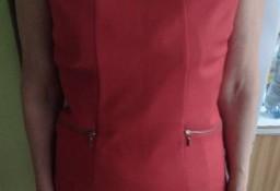 (38/M) Czerwona, biznesowa sukienka ołówkowa z Londynu./ NOWA