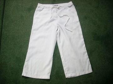 Atmosphere Białe Spodnie 5/6 Len J Nowe 38 40