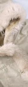 PIĘKNY kożuch ciepły płaszcz kaptur j NOWY 40 42 L XL-3