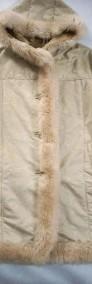 PIĘKNY kożuch ciepły płaszcz kaptur j NOWY 40 42 L XL-4