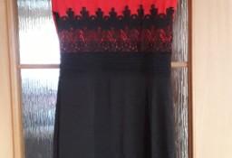 Sukienka M 38 - ołówkowa - elegancka, koronka