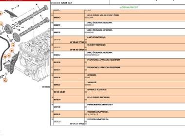 ZESTAW ŁAŃCUCHA ROZRZĄDU SILNIK 1.6 EP6 BMW PICASSO/C4/DS4/DS5/C5/4007/MINI/ Citroen C5-2