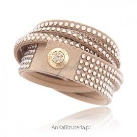 Bransoletka Swarovski Alcantra Rock Glamur - efektowna i elegancka biżuteria damska
