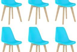 vidaXL Krzesła stołowe, 6 szt., niebieskie, plastik289127