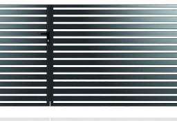 Brama dwuskrzydłowa+furtka D-02 profil 70x20-1,5x5m kpl.
