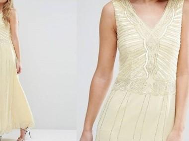 (38/M) Cekinowa, długa suknia wieczorowa z Londynu/ sukienka wieczorowa/ NOWA-1