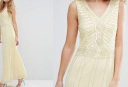 (38/M) Cekinowa, długa suknia wieczorowa z Londynu/ sukienka wieczorowa/ NOWA