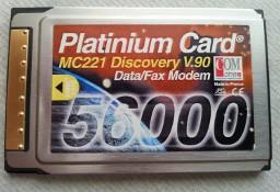Platinium Card MC221 Discovery V.90 Modem 56000 Karta Modemowa do laptopa Made in France