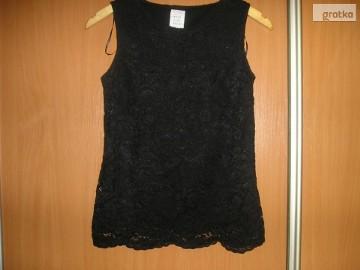 koronkowa, czarna bluzka M 38 nowa