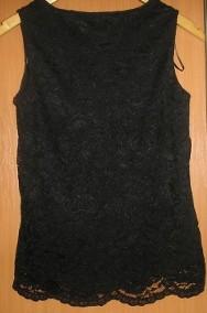 koronkowa, czarna bluzka M 38 nowa-2