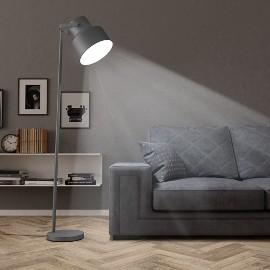 vidaXL Lampa podłogowa, metalowa, szara, E27 51030