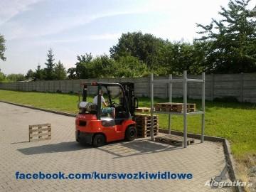 Kurs wózek widłowy. Sieradz, Poddębice, Zduńska Wola.