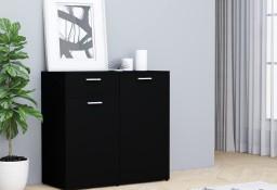 vidaXL Szafka, czarna, 80x36x75 cm, płyta wiórowa801824
