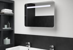 vidaXL Szafka łazienkowa z lustrem i LED, 80 x 11 x 55 cm 285120