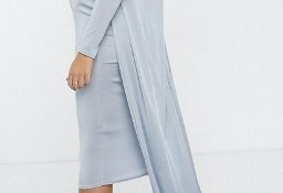 (40/L) ASOS/ ZESTAW: sukienka ołówkowa(hiszpanka)+ długa narzutka/ NOWY
