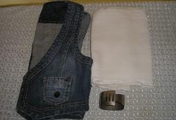 maxi biała spódnica Jakes,  kamizelka jeans  s Oliver  38-40