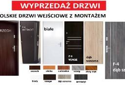 Drzwi wewnątrzklatkowe- zewnętrzne do mieszkania z montażem .Metalowe drewniane.
