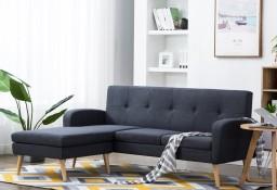 vidaXL Sofa w kształcie L, obita tkaniną, 186x136x79 cm, ciemnoszara246996
