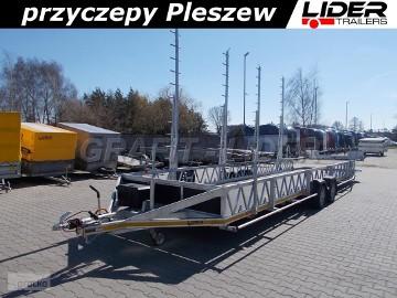 LT-097 przyczepa 820x200, dłużyca 2 osiowa, do przewozu basenów, pool - trailer, jacuzzi, spa, DMC 3000kg